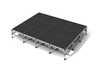 "192 Square Foot All-Terrain Stage Kit (12 Ft X 16 Ft) Height Adjustable To 24"" To 32"", 40"" And 48"" High"