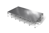 "288 Square Foot All-Terrain Weather-Proof Stage Kit (12 Ft X 24 Ft) Height Adjustable To 24"" To 32"", 40"" And 48"" High"