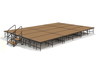 "16' x 24' 24"" High, Economy Executive Stage Kit (Hardboard Finish)"