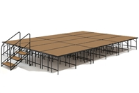 "16' x 24' 32"" High, Economy Executive Stage Kit (Hardboard Finish)"