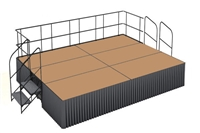 12' x 16' Hardboard Dual Height Executive Stage Kit