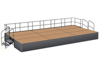 12' x 24' Hardboard Dual Height Executive Stage Kit