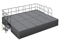 16' x 20' Carpet Finished Dual Height Executive Stage Kit