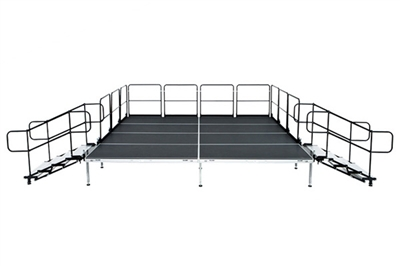 "12' X 24' Fast Pro Elite Series Stage Kit - Height Adjustable 28"" to 44"" high"