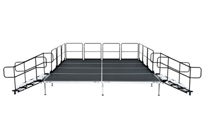 "12' X 8' Fast Pro Elite Series Stage Kit - Height Adjustable 18"" to 28"" high"