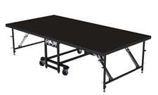 "4FT X 8FT - 32"" Mobile Folding Portable Stage ( Industrial Finish )"