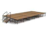 "12' x 24' - 24"" Economy Executive Stage Kit (Hardboard Finish)"