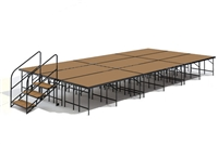 "12' x 24' - 32"" Economy Executive Stage Kit (Hardboard Finish)"