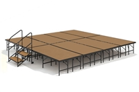 "16' x 16' - 24"" Economy Executive Stage Kit (Hardboard Finish)"