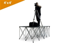 "Double 4'X4' Duraflex Camera Platform With Two 32"" Risers (Call for shipping before ordering)"