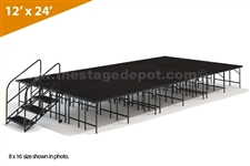 "12' x 24' - 32"" Single Height Stage Kit ( Poly Finish )"