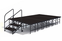 "12' x 8' - 24""  Economy Executive Stage Kit ( Poly Finish )"