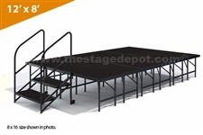 "12' x 8' - 24""  Single Height Stage Kit ( Poly Finish )"
