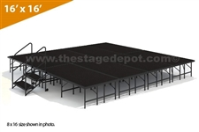 "16' x 16' - 24"" Single Height Stage Kit ( Poly Finish )"