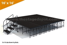 "16' x 16' - 32"" Single Height Stage Kit ( Poly Finish )"