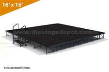 "16' x 16' - 8"" Single Height Stage Kit ( Poly Finish )"