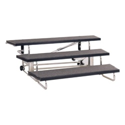 Transfold Choral Risers by Folding Stages (three levels high, 4', or 6' length)