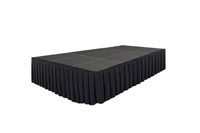 240 SQ. FT STAGE SYSTEM W/ SKIRTING - 12 FT X 20FT X 32""