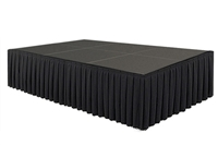96 SQ. FT STAGE SYSTEM W/ SKIRTING - 12 FT X 8 FT X 32""