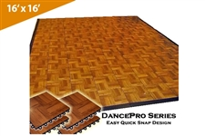 DancePro Modular, Portable Wooden Dance Floor ( 16' x 16' )