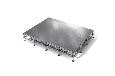 "192 Square Foot All-Terrain Weather-Proof Stage Kit (12 Ft X 16 Ft) Height Adjustable To 24"" To 32"", 40"" And 48"" High"