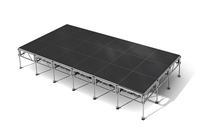 "288 Square Foot All-Terrain Stage Kit (12 Ft X 24 Ft) Height Adjustable To 24"" To 32"", 40"" And 48"" High"