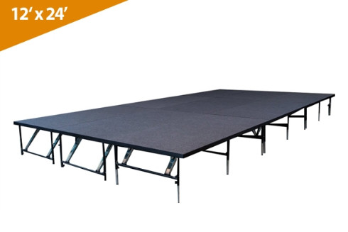 12' x 24' Dual Height Stage Kit ( Carpet Finish)