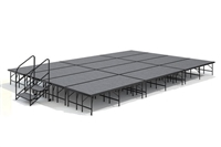 "16' x 24' 24"" High, Economy Executive Stage Kit (Carpet Finish)"
