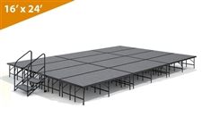 "16' x 24' 24"" Single Height Stage Kit (Carpet Finish)"