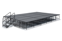 "16' x 24' 32"" High, Economy Executive  Portable Stage Kit (Carpet Finish)"