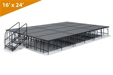 "16' x 24' 32"" Single Height Stage Kit (Carpet Finish)"
