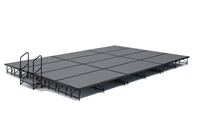 "16' x 24' 8"" High, Economy Executive  Portable Stage Kit (Carpet Finish)"