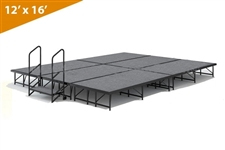 "12' x 16' - 16"" Single Height Stage Kit ( Carpet Finish )"