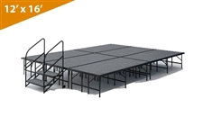 "12' x 16' - 24"" Single Height Stage Kit ( Carpet Finish )"