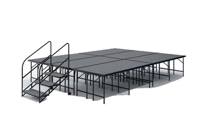"12' x 16' - 32"" Economy Executive Stage Kit ( Carpet Finish )"