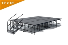 "12' x 16' - 32"" Single Height Stage Kit ( Carpet Finish )"
