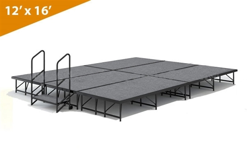 "12' x 16' - 8"" Single Height Stage Kit ( Carpet Finish)"