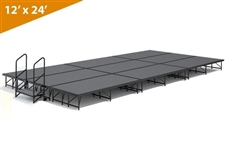 "12' x 24' - 16"" Single Height Stage Kit ( Carpet Finish )"