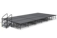 "12' x 24' - 24"" Economy Executive Stage Kit ( Carpet Finish )"