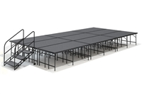 "12' x 24' - 32"" Economy Executive  Portable Stage Kit ( Carpet Finish )"