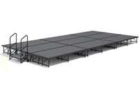 "12' x 24' - 8"" Economy Executive Portable Stage Kit ( Carpet Finish )"