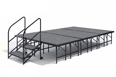 "12' x 8' - 24""  Economy Executive  Portable Stage Kit ( Carpet Finish )"
