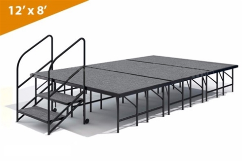 "12' x 8' - 24""  Single Height Stage Kit ( Carpet Finish )"
