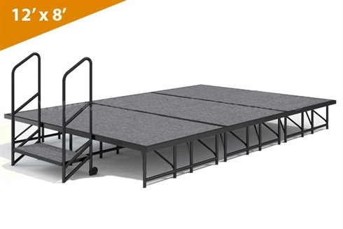 "12' x 8' - 8""  Single Height Stage Kit ( Carpet Finish )"