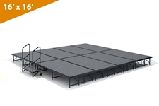 "16' x 16' - 16"" Single Height Stage Kit ( Carpet Finish )"
