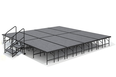 "16' x 16' - 24"" Economy Executive  Portable Stage Kit ( Carpet Finish )"