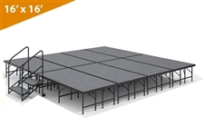 "16' x 16' - 24"" Single Height Stage Kit ( Carpet Finish )"