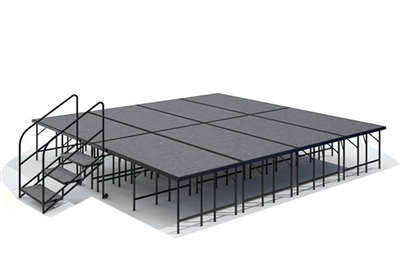 "16' x 16' - 32"" Economy Executive Stage Kit ( Carpet Finish )"