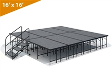 "16' x 16' - 32"" Single Height Stage Kit ( Carpet Finish )"