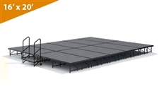 "16' x 20' - 16"" Single Height Stage Kit ( Carpet Finish )"